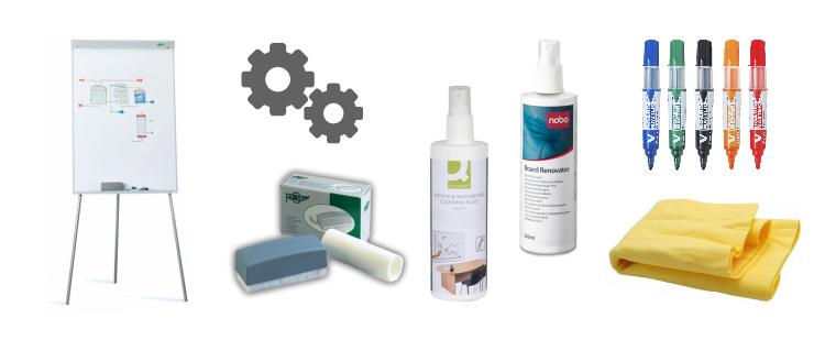 Limpieza y mantenimiento de pizarras blancas